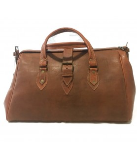 Azla Travel Leather Bag Tan