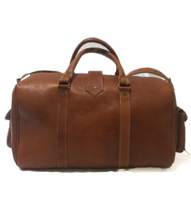 Oasis Travel Leather Bag Tan