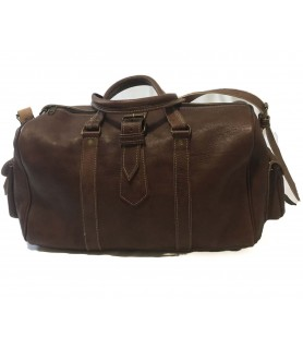 Oasis Travel Leather Bag Brown